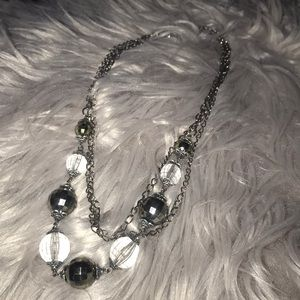 NWOT BEADED DISCO BALL NECKLACE